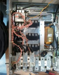 AFTER: The same AC drive after our techs repaired it and QC'd the rest of the drive. Cleaning the entire unit, including fans and the cabinet, is part of our repair service. We also will replace the capacitors if they are in the dry-out stages.